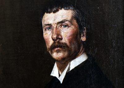 Nils Bjørgum - sjølvportrett